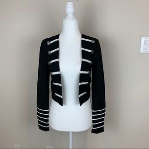 LF NWT Dress Decode Military Blazer Black Size XS